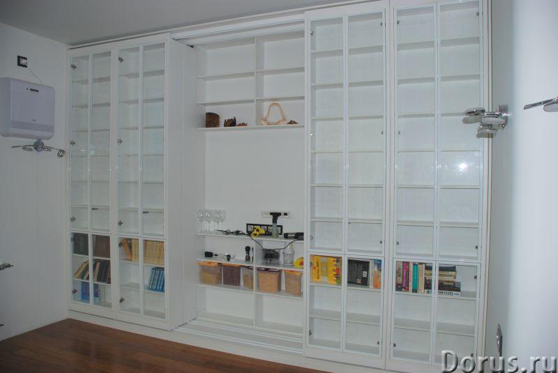 Библиотека раздвижная новая - Мебель для дома - Размеры: В 280 см x Ш 390 см х Г 64 см. Всего 8 двиг..., фото 4