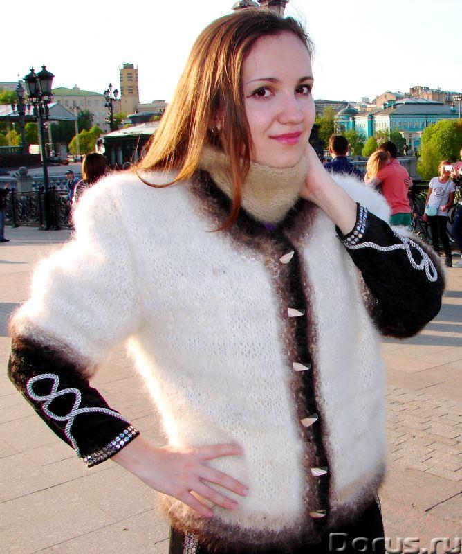 Жакет женский вязаный «Пушистая Аврора» из собачьей шерсти - Одежда и обувь - Жакет женский вязаный..., фото 1