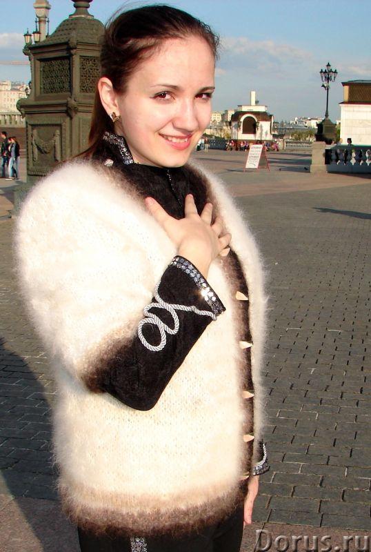 Жакет женский вязаный «Пушистая Аврора» из собачьей шерсти - Одежда и обувь - Жакет женский вязаный..., фото 2