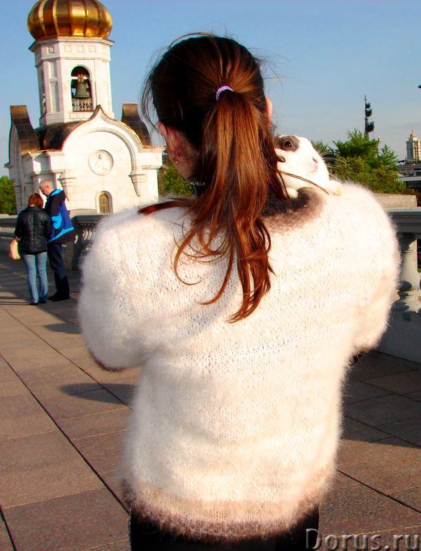Жакет женский вязаный «Пушистая Аврора» из собачьей шерсти - Одежда и обувь - Жакет женский вязаный..., фото 3