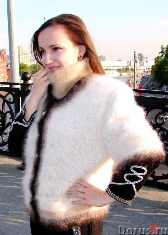 Жакет женский вязаный «Пушистая Аврора» из собачьей шерсти - Одежда и обувь - Жакет женский вязаный..., фото 4