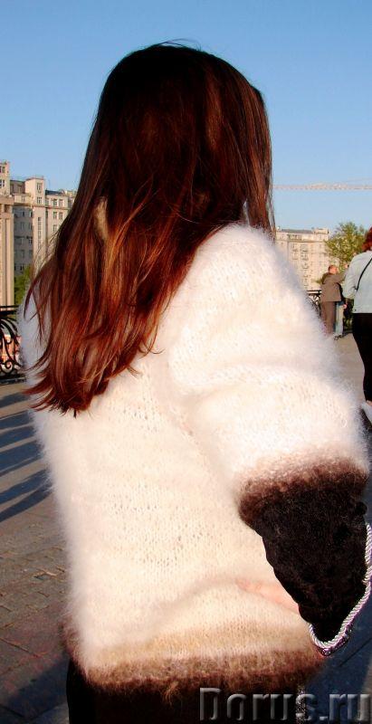 Жакет женский вязаный «Пушистая Аврора» из собачьей шерсти - Одежда и обувь - Жакет женский вязаный..., фото 5
