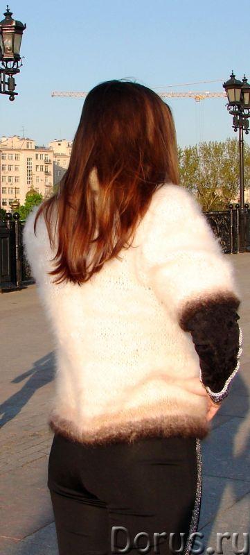 Жакет женский вязаный «Пушистая Аврора» из собачьей шерсти - Одежда и обувь - Жакет женский вязаный..., фото 7