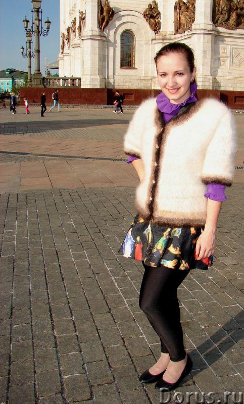 Жакет женский вязаный «Пушистая Аврора» из собачьей шерсти - Одежда и обувь - Жакет женский вязаный..., фото 8