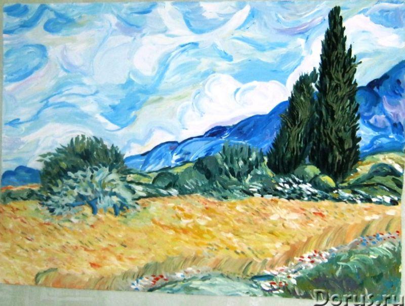 Пшеничное поле. Картина акрилом - Искусство и коллекционирование - Вольная копия картина Ван Гога, а..., фото 1