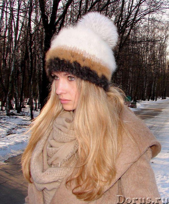 Шапка женская вязанная «Теплое Обаяние2» из собачьей шерсти - Одежда и обувь - Шапка женская вязанна..., фото 4