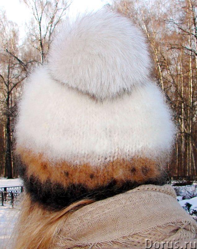 Шапка женская вязанная «Теплое Обаяние2» из собачьей шерсти - Одежда и обувь - Шапка женская вязанна..., фото 6