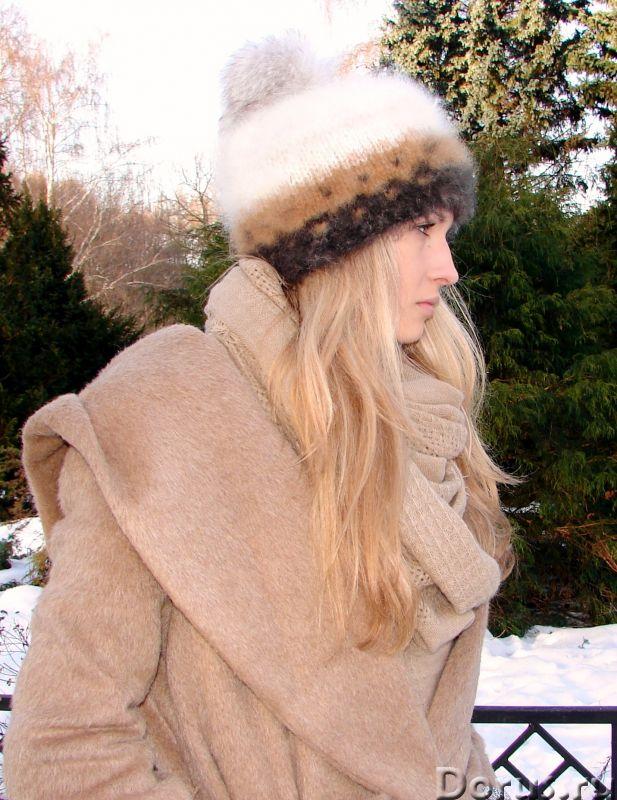 Шапка женская вязанная «Теплое Обаяние2» из собачьей шерсти - Одежда и обувь - Шапка женская вязанна..., фото 8