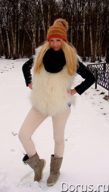 Шапка женская вязанная «Молодежная2» из шерсти - Одежда и обувь - Шапка женская вязанная «Молодежная..., фото 3