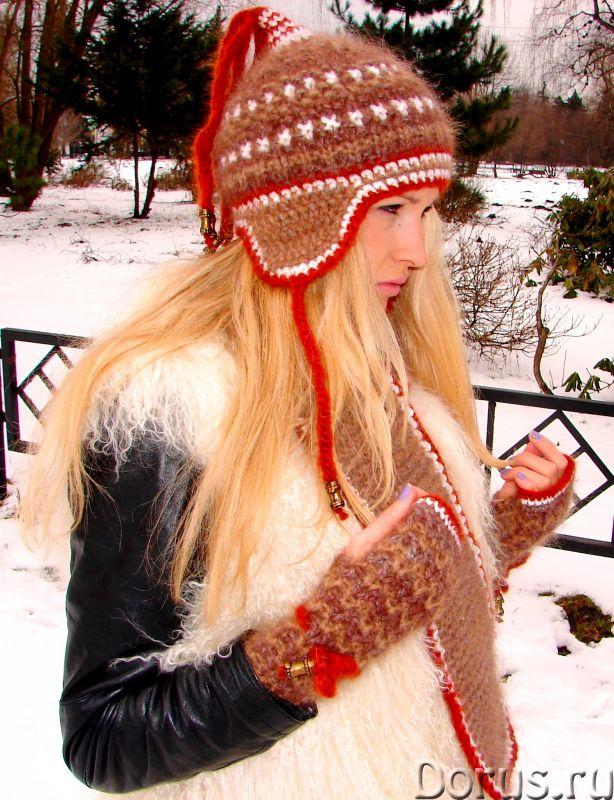 Шапка женская зимняя «ЗЕНА» .Комплект вязаный - Одежда и обувь - Шапка женская зимняя «ЗЕНА» .Компле..., фото 1