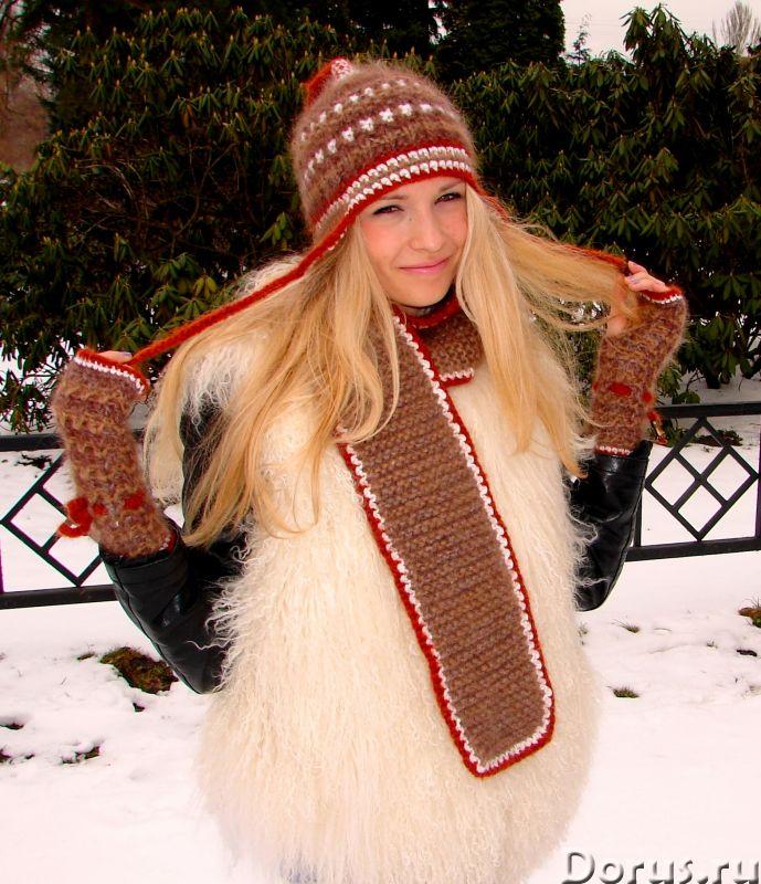 Шапка женская зимняя «ЗЕНА» .Комплект вязаный - Одежда и обувь - Шапка женская зимняя «ЗЕНА» .Компле..., фото 2