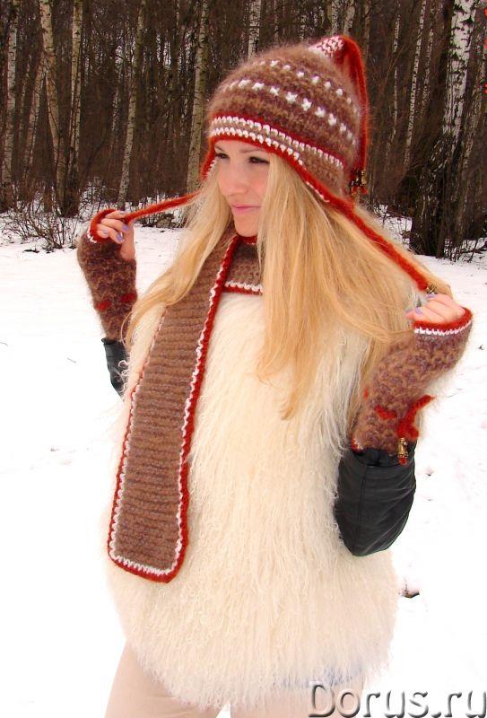 Шапка женская зимняя «ЗЕНА» .Комплект вязаный - Одежда и обувь - Шапка женская зимняя «ЗЕНА» .Компле..., фото 3