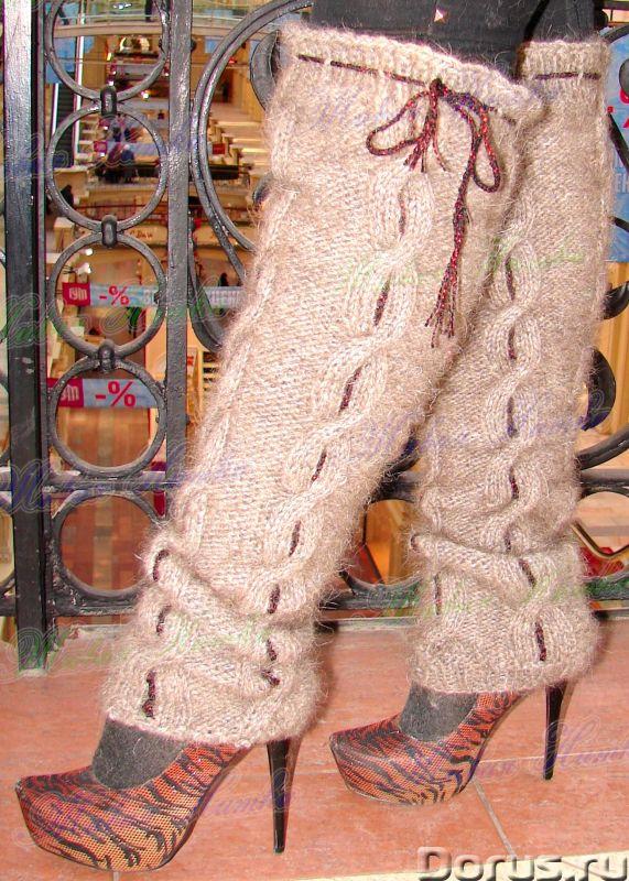 Гетры женские теплые вязанные арт. №15ж из собачьей шерсти - Одежда и обувь - Гетры женские теплые в..., фото 10
