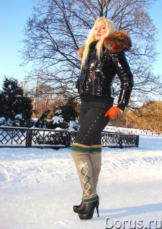 Гетры женские теплые целебные вязанные арт№02ж .Шерсть - Одежда и обувь - Гетры женские теплые вязан..., фото 6