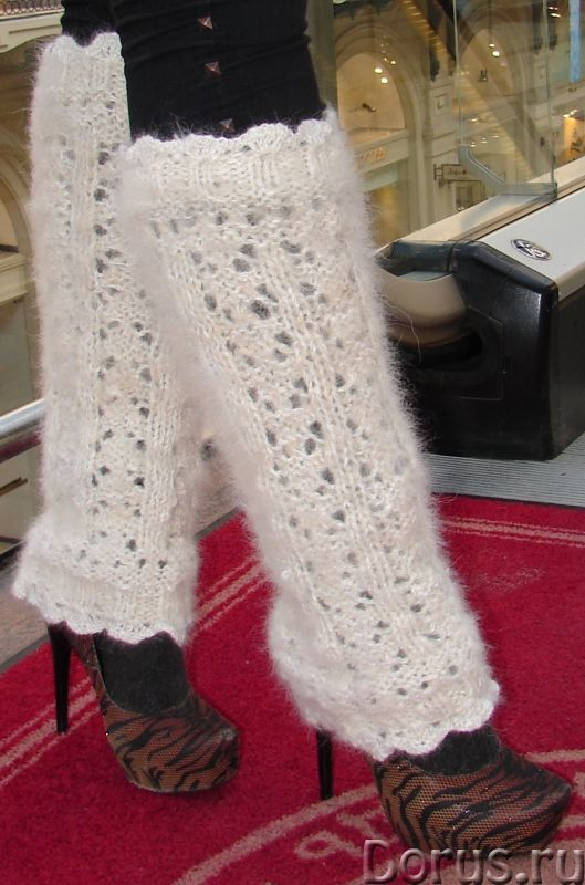 Гетры женские теплые вязаные арт.№17 из собачьего пуха - Одежда и обувь - Гетры женские теплые вязан..., фото 5