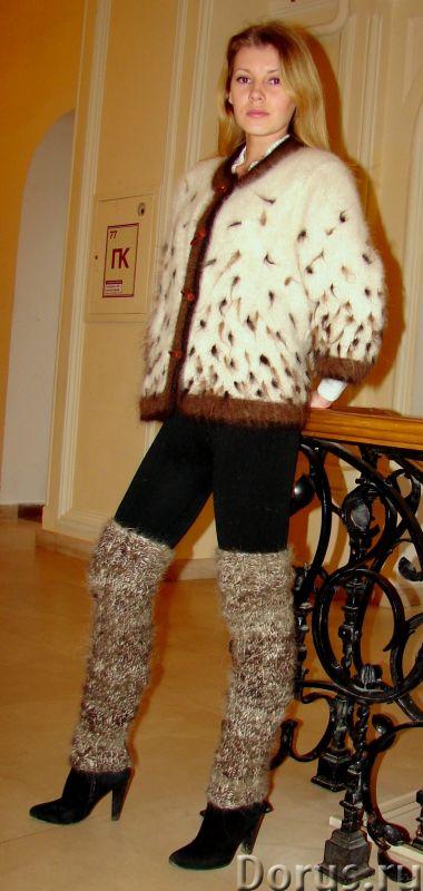 Гетры женские теплые вязанные арт№03ж из собачьей шерсти - Одежда и обувь - Гетры женские теплые вяз..., фото 4