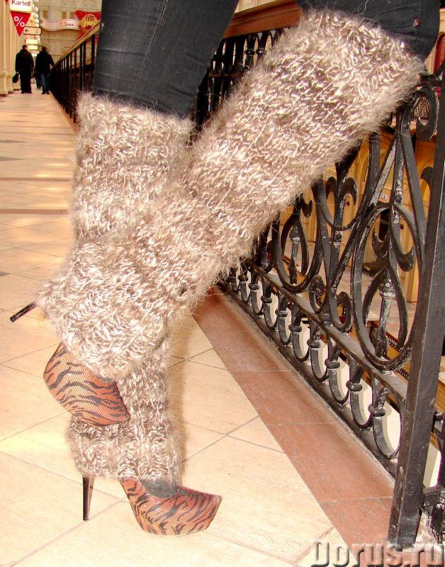 Гетры женские теплые вязанные арт№03ж из собачьей шерсти - Одежда и обувь - Гетры женские теплые вяз..., фото 5