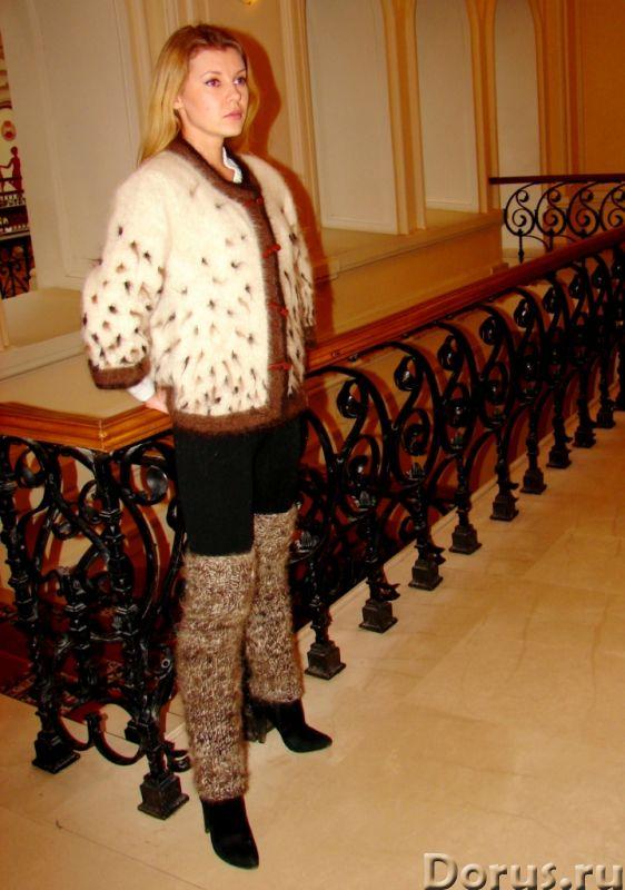 Гетры женские теплые вязанные арт№03ж из собачьей шерсти - Одежда и обувь - Гетры женские теплые вяз..., фото 9