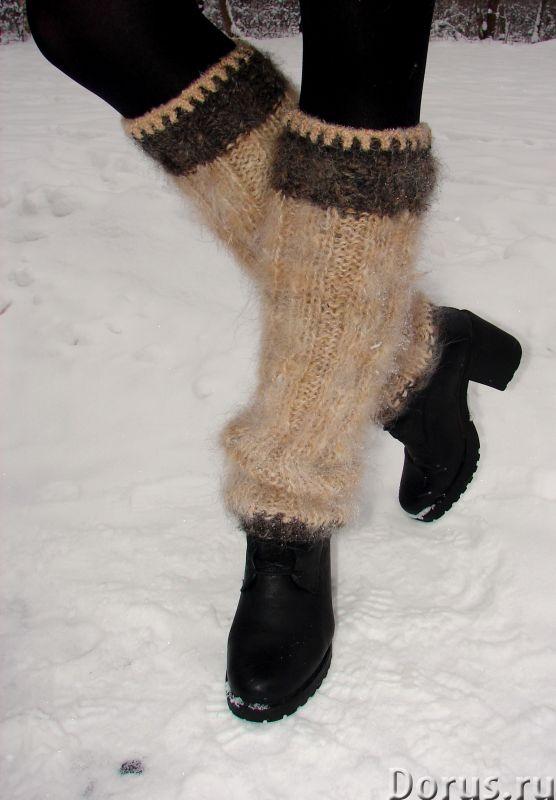 Гетры женские теплые вязанные арт. №23ж из собачьей шерсти - Одежда и обувь - Гетры женские теплые в..., фото 1