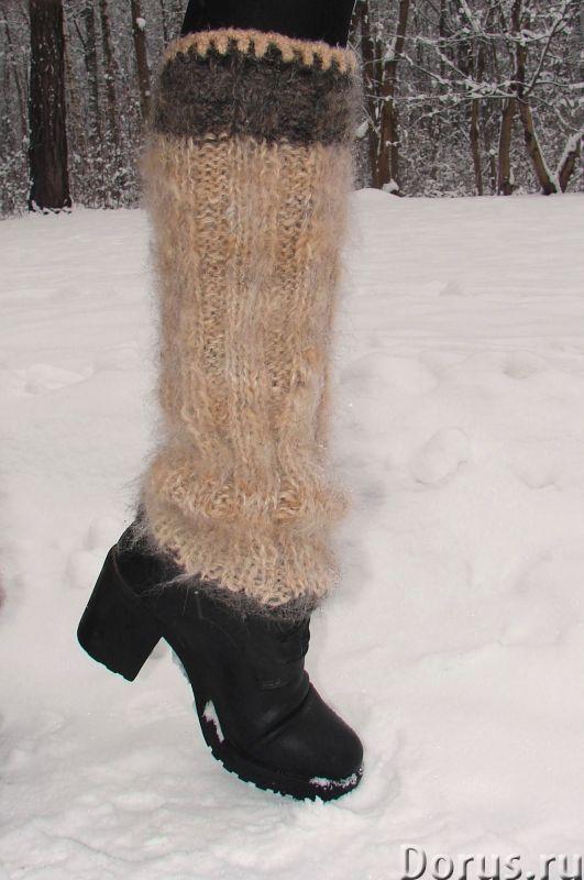 Гетры женские теплые вязанные арт. №23ж из собачьей шерсти - Одежда и обувь - Гетры женские теплые в..., фото 7
