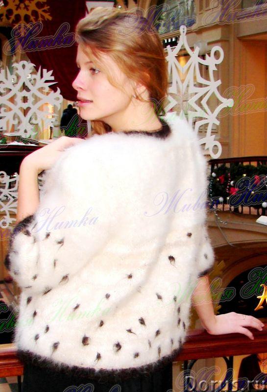 Жакет женский вязаный «Автоледи» из собачьего пуха - Одежда и обувь - Жакет женский вязаный «Автолед..., фото 4