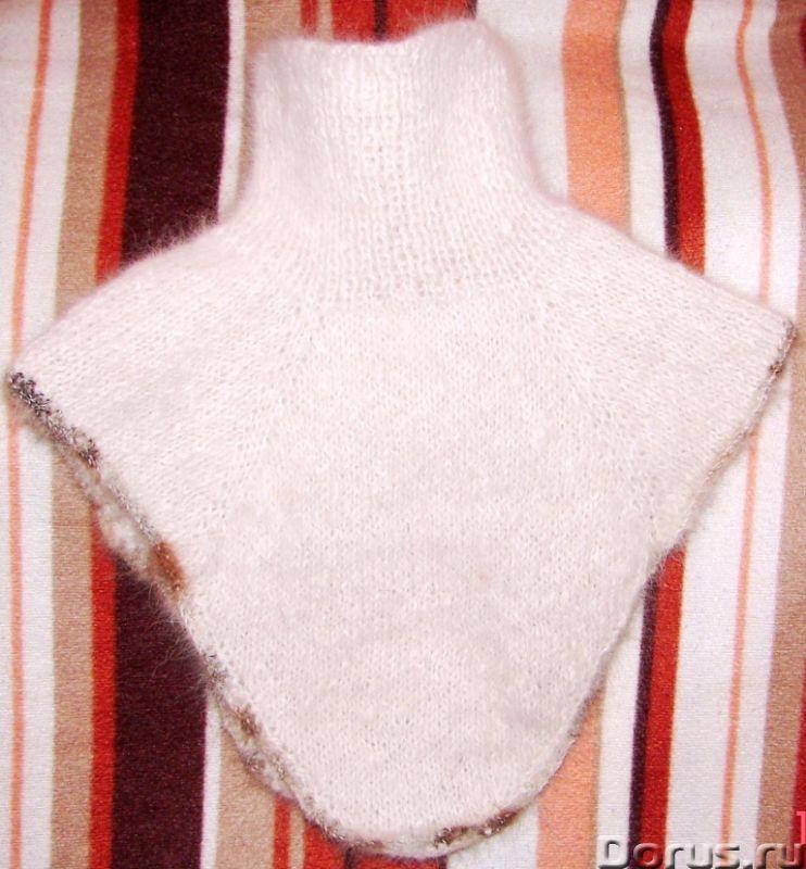 Манишка детская теплая вязанная из собачьего пуха - Одежда и обувь - Манишка вязанная из собачьего п..., фото 1