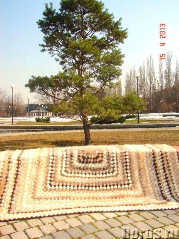 Плед вязанный из собачьего пуха(шерсти).1500 Х 2000 мм - Товары для дома - Плед вязанный из собачьег..., фото 1