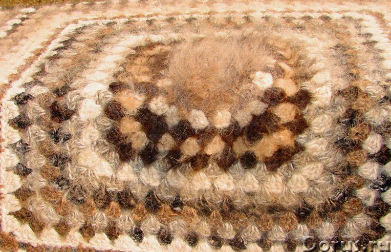 Плед вязанный из собачьего пуха(шерсти).1500 Х 2000 мм - Товары для дома - Плед вязанный из собачьег..., фото 5