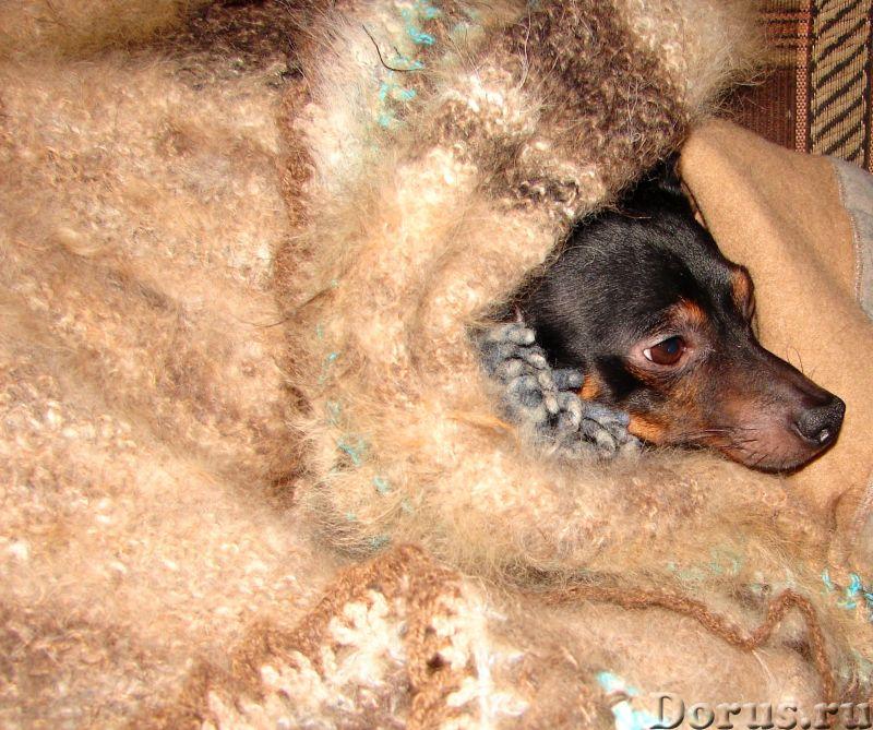 Плед вязанный из собачьего пуха(шерсти).1500 Х 2000 мм - Товары для дома - Плед вязанный из собачьег..., фото 8