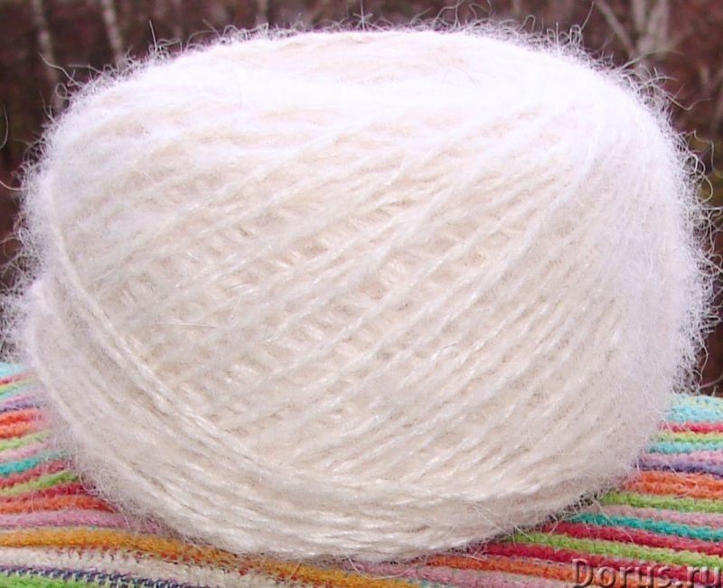 Пряжа целебная «Белый Пушистик superwhite»210м100гр из пуха самоедской лайки - Услуги народной медиц..., фото 5