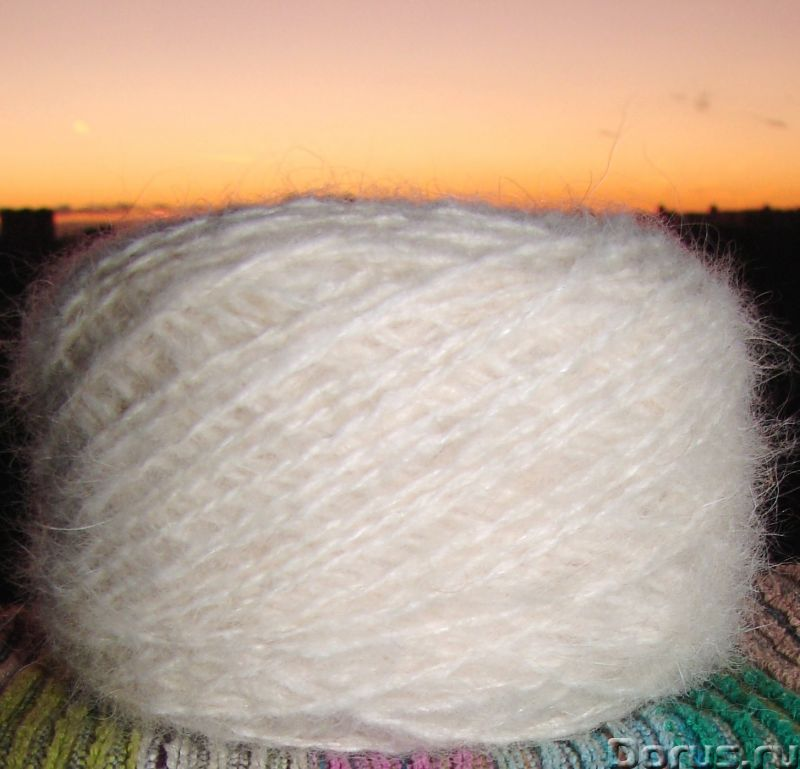 Пряжа целебная «Белый Пушистик superwhite»190м100гр из пуха самоедской лайки - Услуги народной медиц..., фото 7