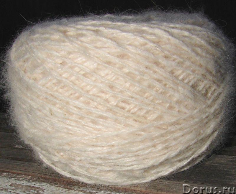 Пряжа целебная «Белый Пушистик white» 165 метров 100 грамм из пуха самоеда - Услуги народной медицин..., фото 2