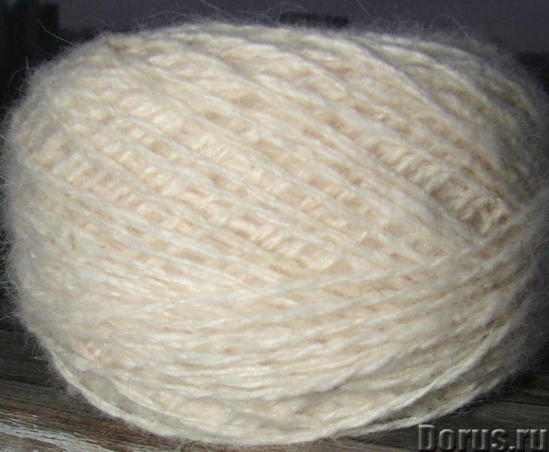 Пряжа целебная «Белый Пушистик white» 165 метров 100 грамм из пуха самоеда - Услуги народной медицин..., фото 3