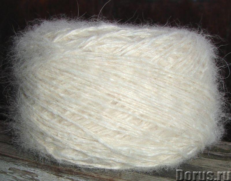 Пряжа целебная «Белый Пушистик white» 165 метров 100 грамм из пуха самоеда - Услуги народной медицин..., фото 9
