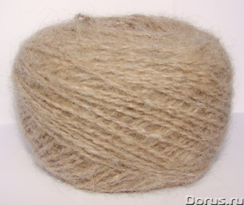 Пряжа «Песочный Мишка145м100грамм» ручного прядения. Шерсть собачья - Услуги народной медицины - Пря..., фото 5