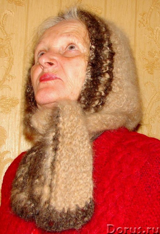 Шапка «Лапландия» женская вязанная из пуха колли .Шерсть собачья - Одежда и обувь - Шапка «Лапландия..., фото 1