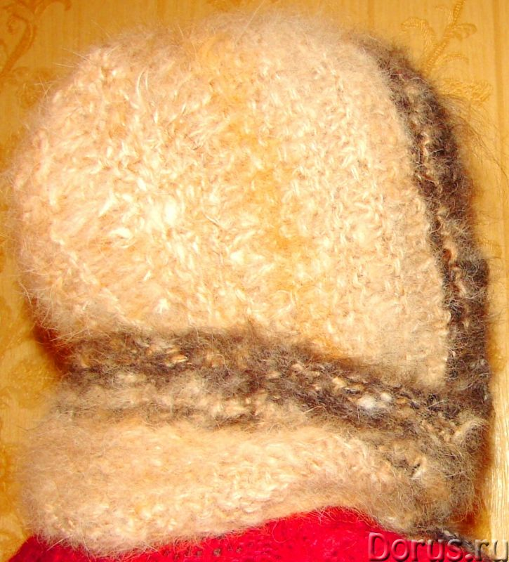 Шапка «Лапландия» женская вязанная из пуха колли .Шерсть собачья - Одежда и обувь - Шапка «Лапландия..., фото 3