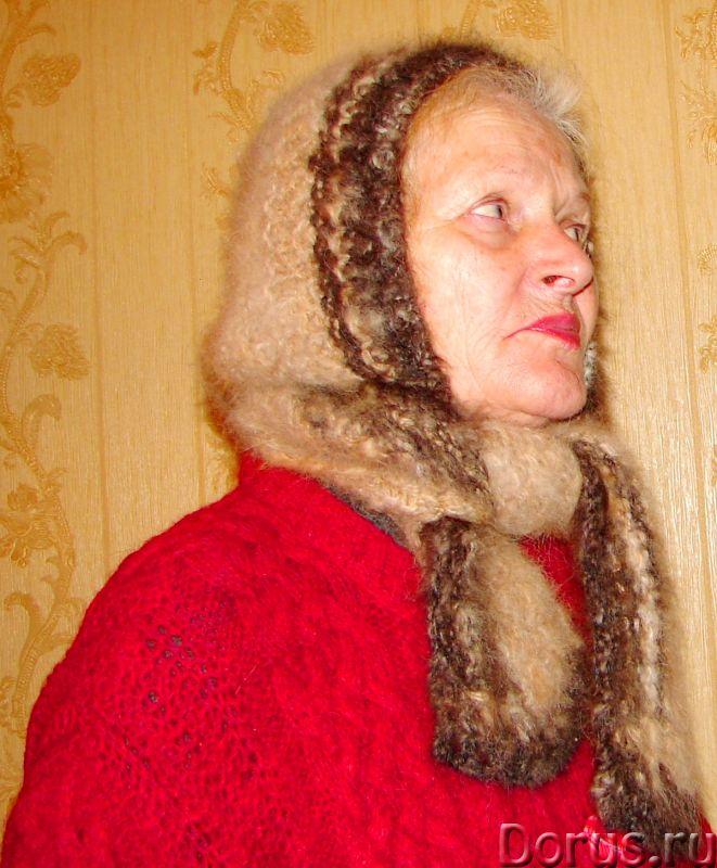 Шапка «Лапландия» женская вязанная из пуха колли .Шерсть собачья - Одежда и обувь - Шапка «Лапландия..., фото 5