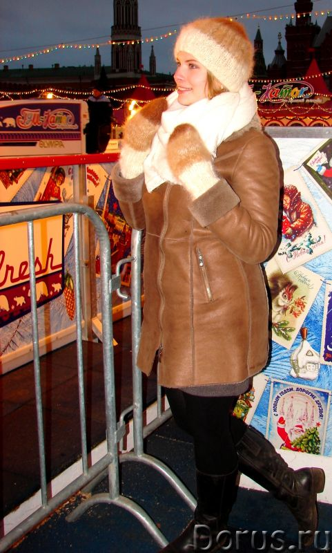Комплект «Новогодний Капучино» из собачьего пуха ручного вязания - Одежда и обувь - Комплект «Нового..., фото 2
