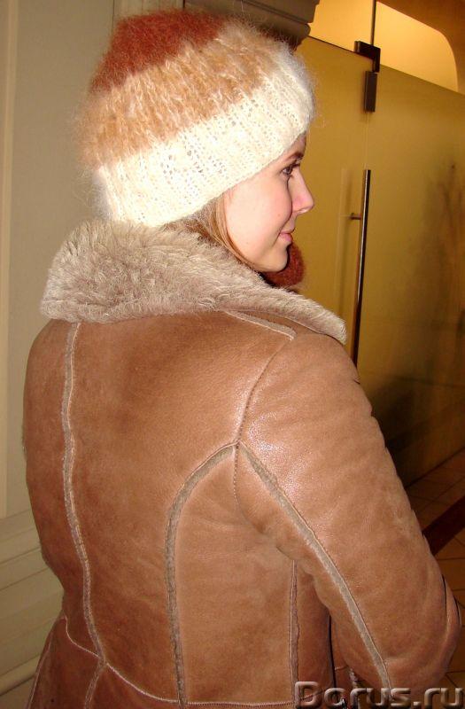 Комплект «Новогодний Капучино» из собачьего пуха ручного вязания - Одежда и обувь - Комплект «Нового..., фото 4