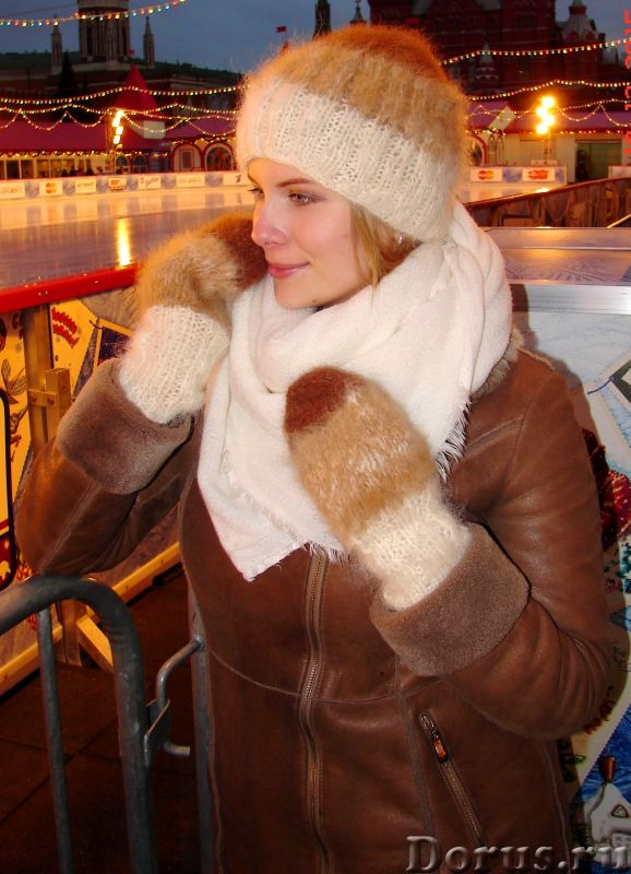 Комплект «Новогодний Капучино» из собачьего пуха ручного вязания - Одежда и обувь - Комплект «Нового..., фото 6