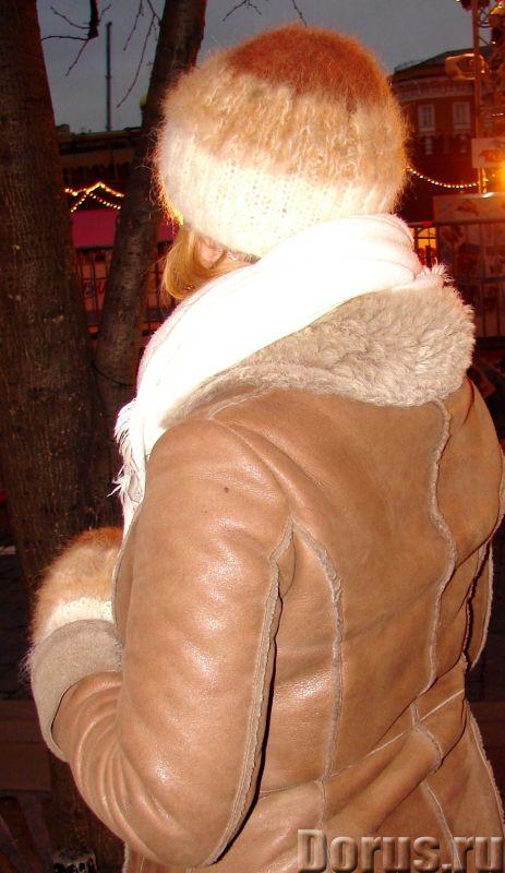 Комплект «Новогодний Капучино» из собачьего пуха ручного вязания - Одежда и обувь - Комплект «Нового..., фото 8