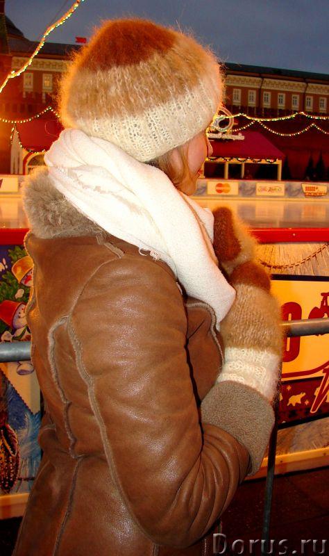 Комплект «Новогодний Капучино» из собачьего пуха ручного вязания - Одежда и обувь - Комплект «Нового..., фото 9
