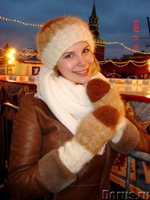 Комплект «Новогодний Капучино» из собачьего пуха ручного вязания - Одежда и обувь - Комплект «Нового..., фото 10