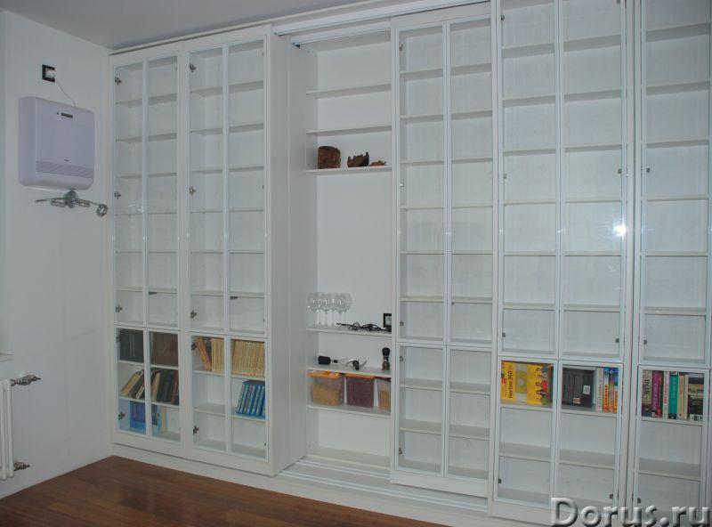 Раздвижная библиотека - Мебель для дома - Размеры: В 280 см x Ш 390 см х Г 64 см. Всего 8 двигающихс..., фото 1