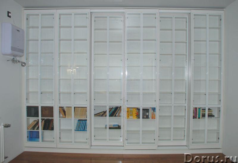 Раздвижная библиотека - Мебель для дома - Размеры: В 280 см x Ш 390 см х Г 64 см. Всего 8 двигающихс..., фото 2