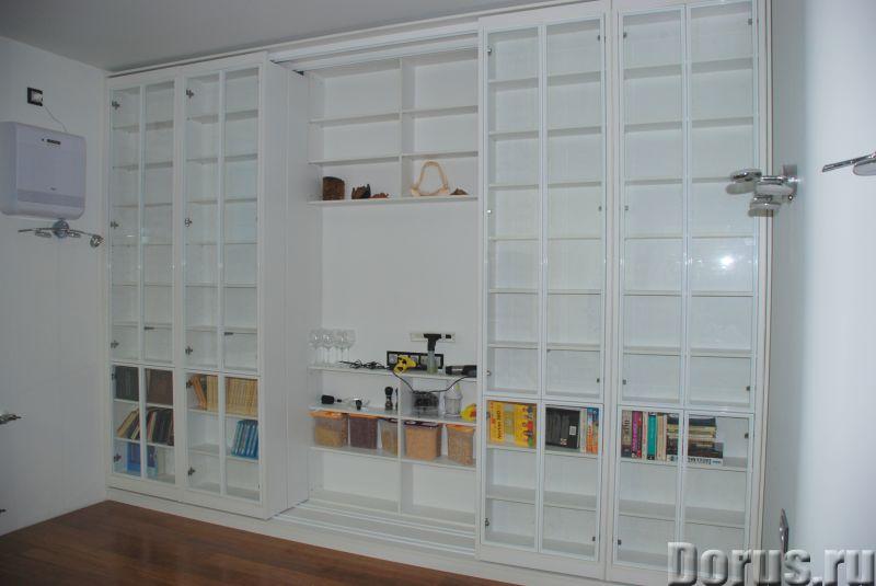 Раздвижная библиотека - Мебель для дома - Размеры: В 280 см x Ш 390 см х Г 64 см. Всего 8 двигающихс..., фото 4