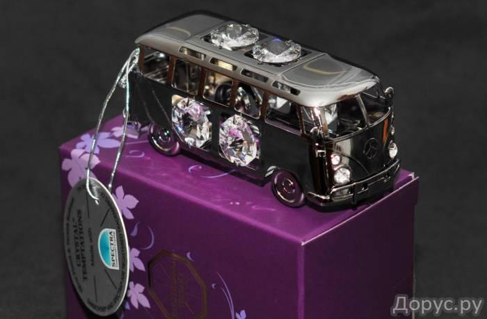 Вагончик для кемпинга с хрусталиками Swarovski - Подарки и сувениры - Посеребренная (Silver Plated)..., фото 1