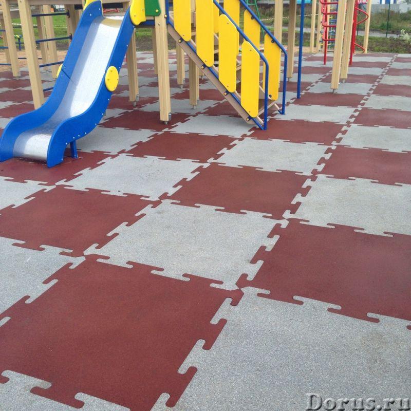 Резиновые маты PUZZLE для детских игровых площадок - Материалы для строительства - Маты из резины (к..., фото 2
