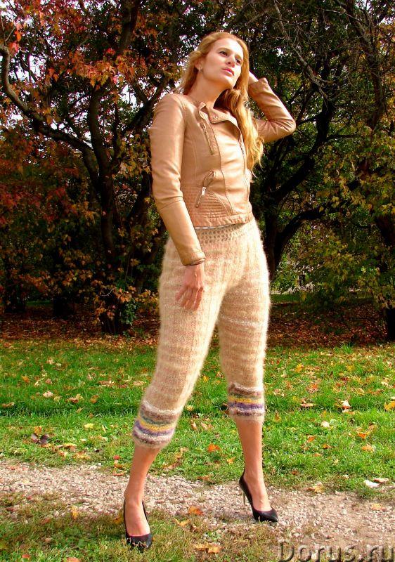Штаны кашемировые женские вязаные арт№19ж из собачьей шерсти .Шерсть собачья.Здоровье - Одежда и обу..., фото 3